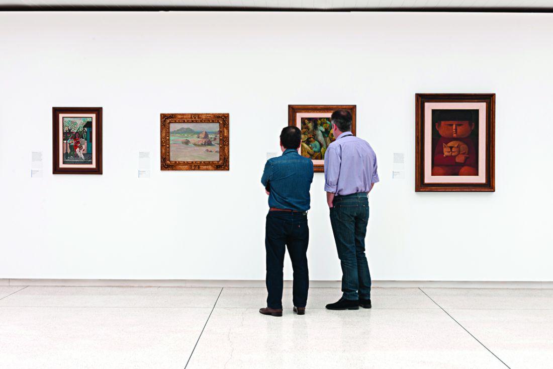 Registro da mostra que foi exibida pelo MON até 1º de novembro só com obras apreendidas na Operação Lava Jato (Foto: Cortesia Museu Oscar Niemeyer)