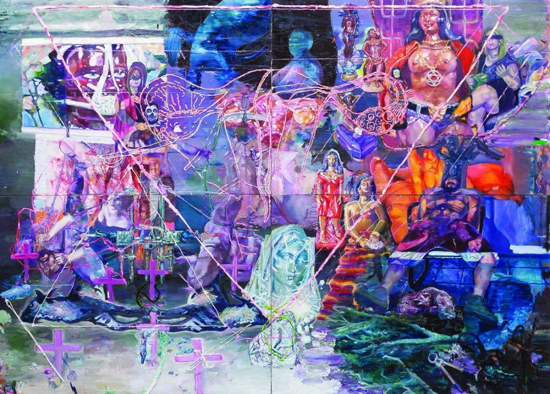O Triângulo Impossível da Judith Negra e a Sedução do Útero da Razão (2012), de Thiago Martins de Mellon (Foto: Cortesia Mendes Wood DM)