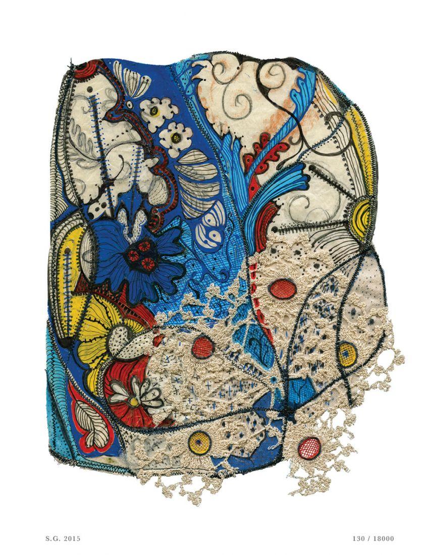 Da série Risco do Tempo, 2015, múltiplo de Sonia Gomes para a edição #27 da seLecT