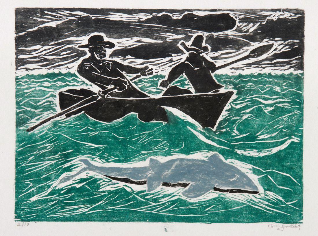 Acima, Perigo no Mar (1955), de Oswaldo Goeldi (Foto: Lani Goeldi/Associação Artística e Cultural Oswaldo Goeldi)