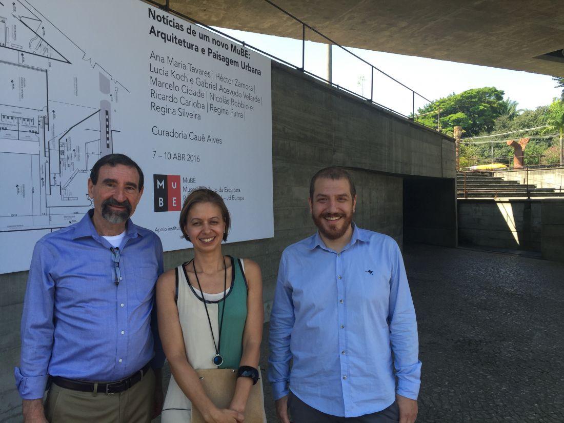 Jorge Landmann, Flavia Velloso e Cauê Alves, o novo time do MUBE
