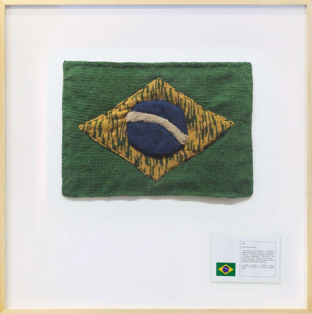 Bandeira Nacional #4 (2016), de Jaime Lauriano