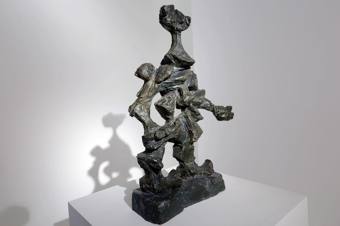 Escultura presente na exposição (Fotos Fábio Zanzeri)