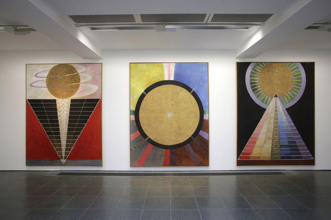 Instalação da obra de Hilma af Klint