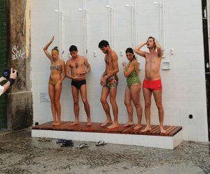 Chuva Verão (2014), intervenção urbana do coletivo Opavivará! (Foto: Opavivará!)