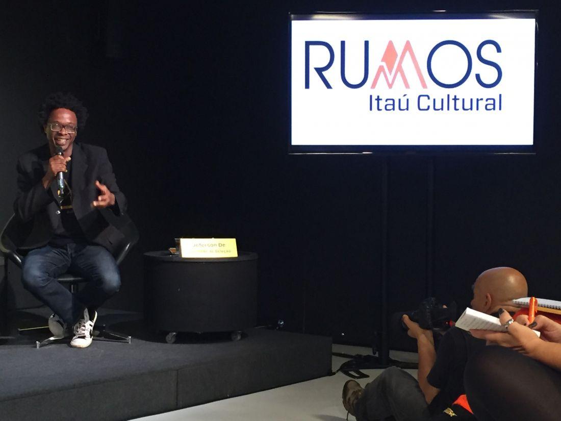 Jeferson De no anúncio dos selecionados do Rumos 2015-2016 (Fotos: Paula y)