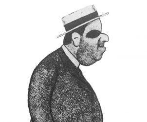João do Rio, em caricatura de Emilio Cardoso Ayres, 1911 (Foto: Divulgação)