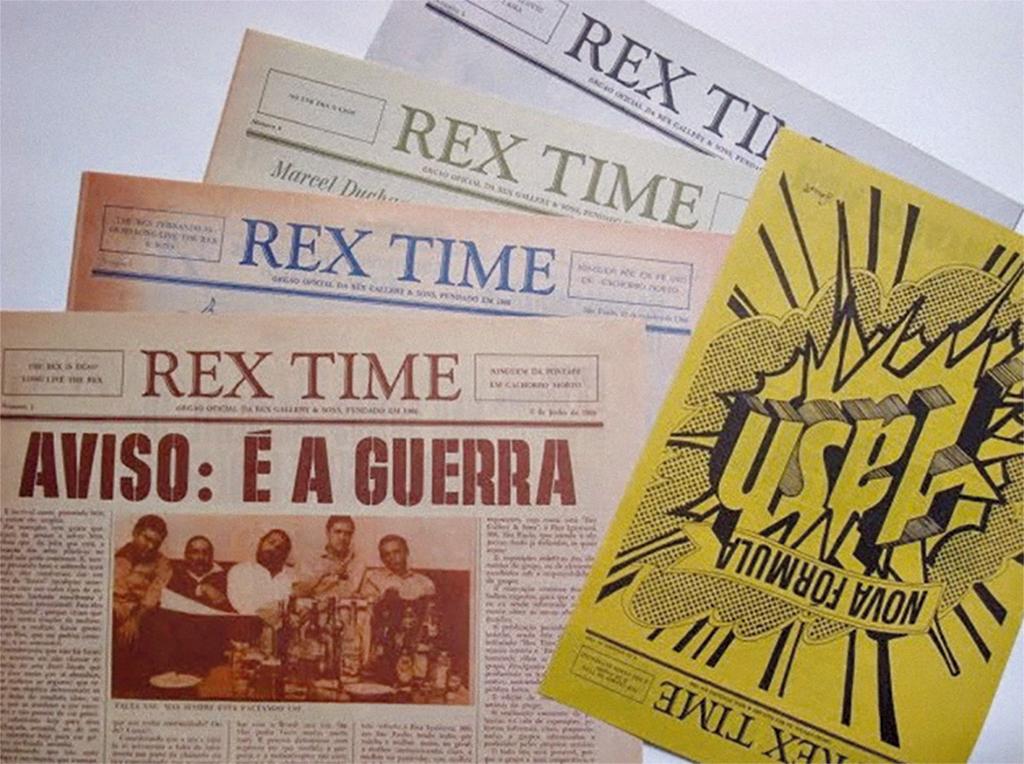 Imagem do periódico Rex Time (Foto: Fábio Morais)