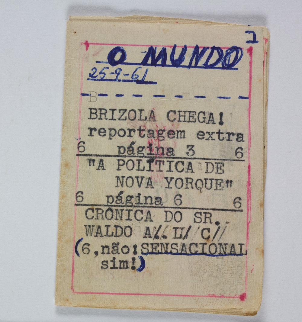Um dos números do jornal O Mundo, criado por Ana Cristina (Foto: Acervo Ana Cristina Cesar/IMS)