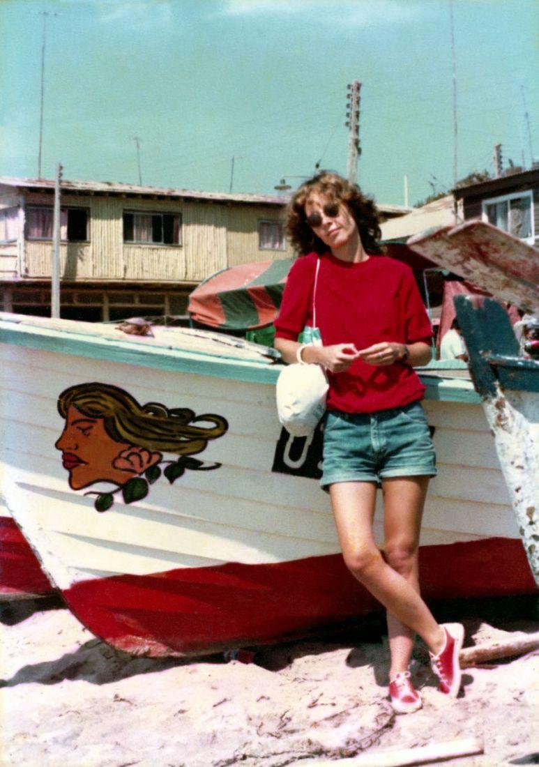 Ana Cristina Cesar, Valparaíso - Chile, fev. 1983 (Foto: Waldo Cesar/Acervo Ana Cristina Cesar/IMS)
