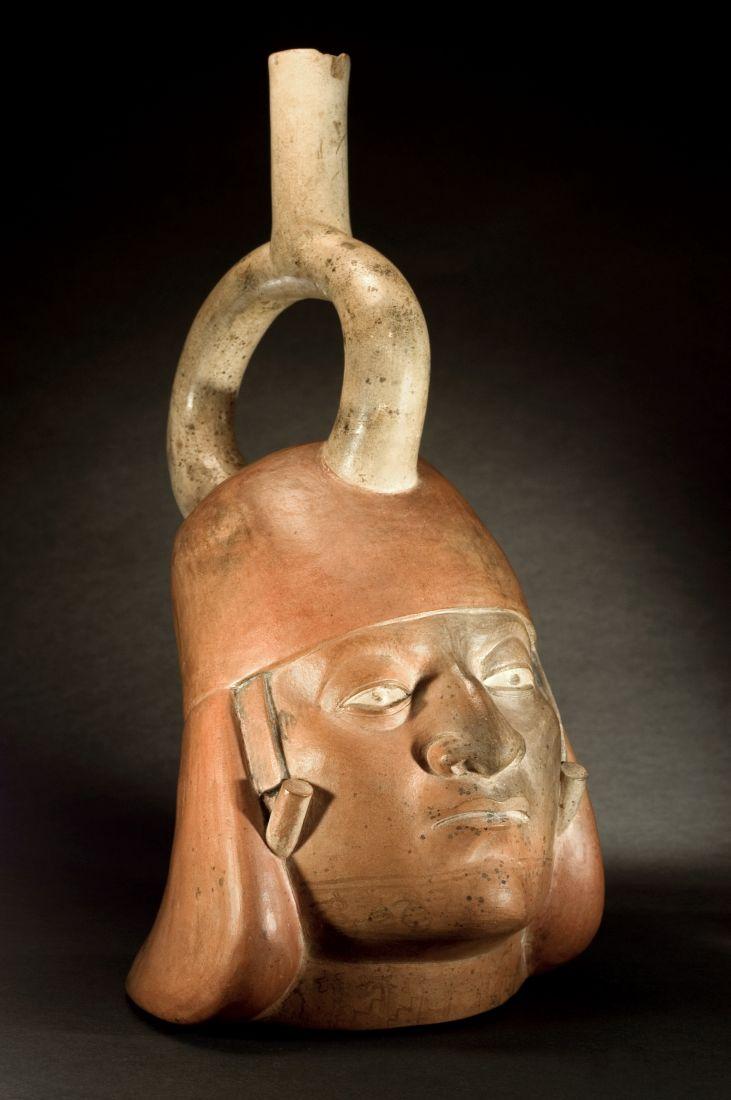 Retrato Moche IV (350 a 400 d.C.), pertencente à Coleção Masp Landmann