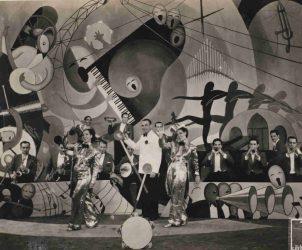 Carmen Miranda, Aurora Miranda e o Bando da Lua em cena do filme Alô, Alô Carnaval (1936), de Adhemar Gonzaga (Fotos: MIS RJ)