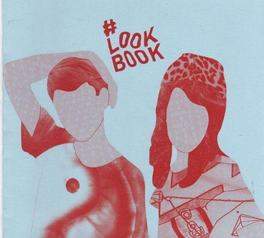 Exemplar e serigrafia do zine Look Book