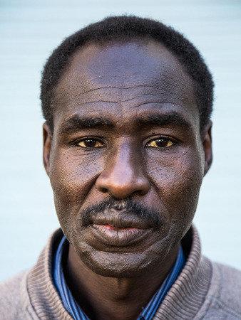 Fotografia de refugiado africano (Foto: Reproducão)