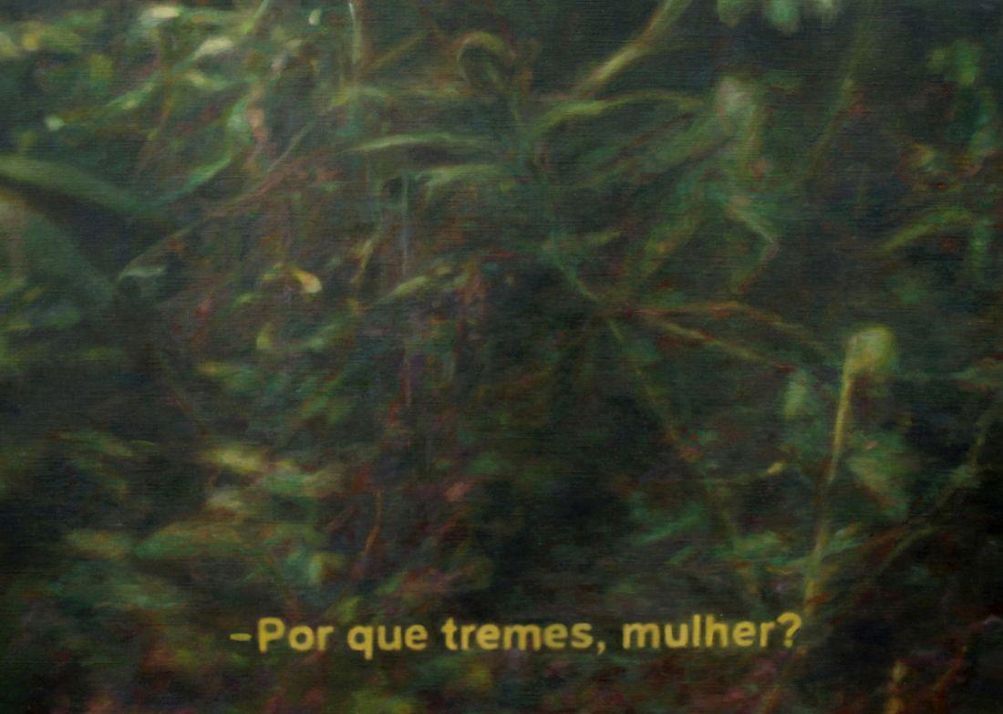 Pintura da série Tragédia no Lar, de Regina Parra (Foto: Divulgação)