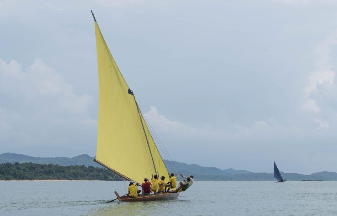 Stealing the Trapeze (2016), de Charles Lim Yi Yong, artista e atleta de Singapura, que examina a sociedade, a biosfera e a situação política das cidades desde o ponto de vista do mar (Foto: Cortesia do artista)