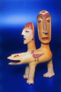 Ulisses Pereira - Duas Cabeças Humanas em Animal (Foto: Acervo Museu Casa do Pontal)