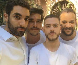 Adriano Carneiro de Mendonça, Bernardo Mosqueira, Bruno Balthazar e Ulisses Carrilho são sócios no espaço independente Solar dos Abacaxis