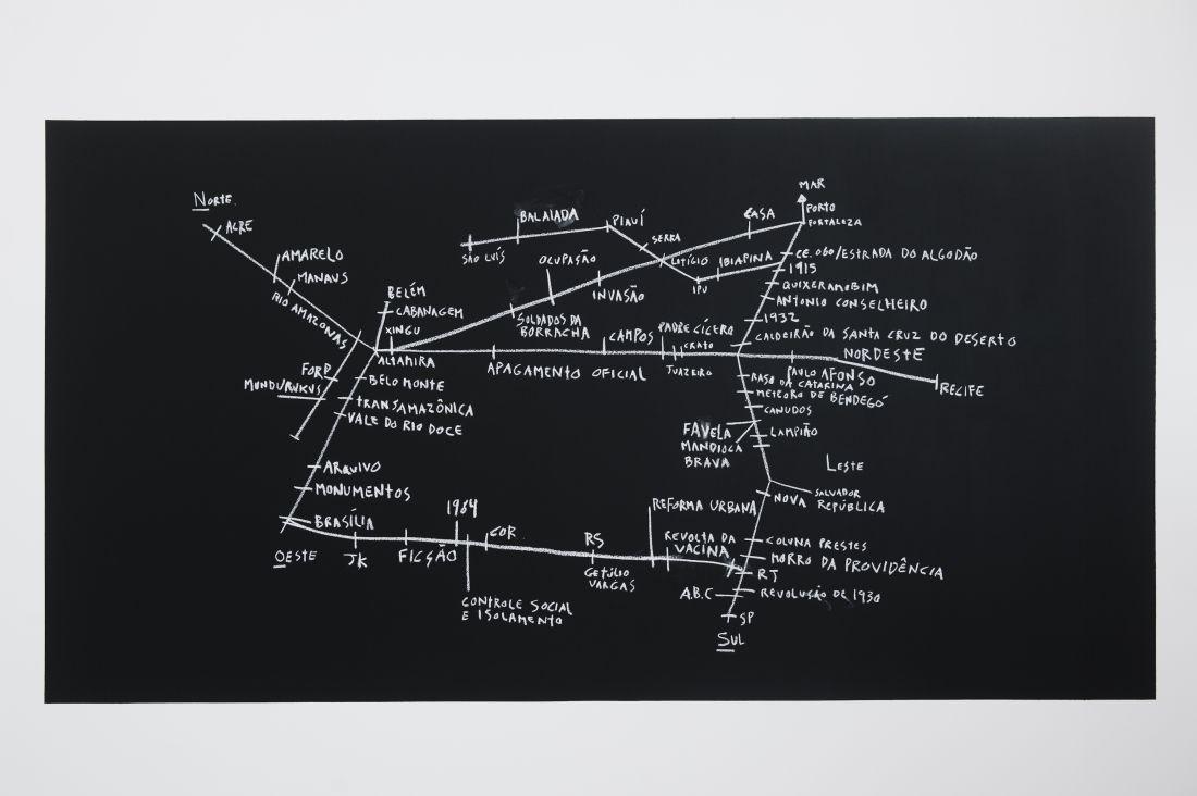 Desterro (2012-2016) é uma obra integrante da instalação Campo Geral, de Ícaro Lima, que trata da imigração forçada de cearenses para o trabalho na indústria do látex na Amazônia, no século 19 (Foto: Isadora Brant)