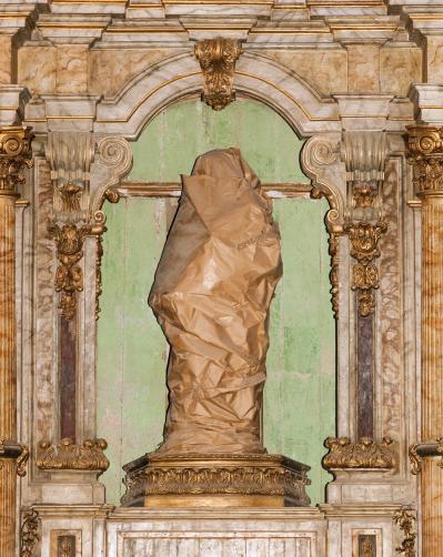 André Penteado - Sem Título (Santo Coberto), da série Cabanagem (Foto: André Penteado/Cortesia Zipper Galeria)