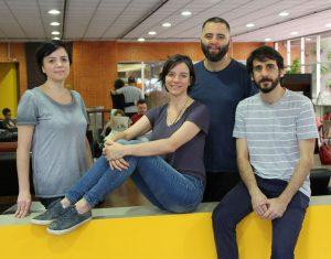 Da esq. para a dir., Carol Tonetti, Ligia Nobre, Claudio Bueno e Vitor Cesar, integrantes do Grupo Inteiro (Foto: Divulgação)