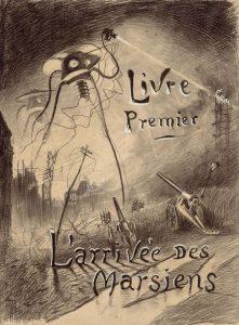 Ilustração baseada no romance Guerra dos Mundos, de H. G. Wells, feita em 1906 por Henrique Alvim Corrêa (Foto: Divulgação)