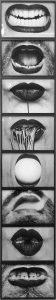 In-Out Antropofagia (série Fotopoemação, 1973/2008), de Anna Maria Maiolino (Foto: Paula Alzugaray)