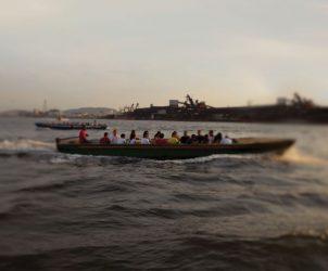 Barco no porto de Santos, onde acontece o Valongo Festival Internacional da Imagem (Foto: Iatã Cannabrava)