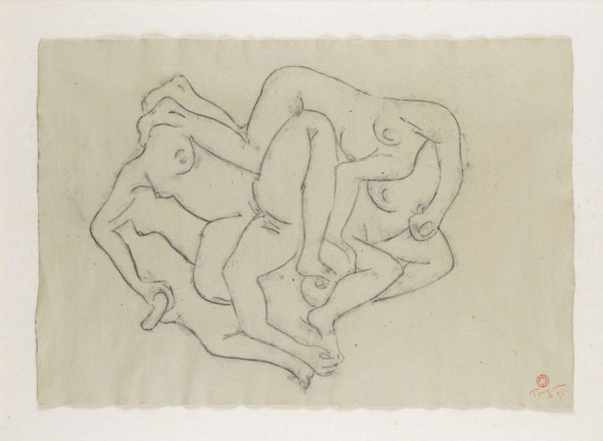 Trabalho Sem Título (1996) de Tunga, parte da série Desenhos em Polvorosa (Foto: Coleção Gilberto Chateaubriand/ Mam-Rio)