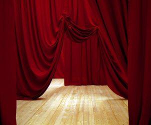 Ulla von Brandenburg, Five Folded Curtains (2008) (Photo: Courtesy Ulla von Brandenburg/ Art Concept Paris)