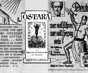 Fac-Símile do periódico Ostara, editado por Liebenfels, que aludia aos Cavaleiros Templários e disseminava ideias sobre uma raça mestra ariana destinada a assumir o poder totalitário. Acredita-se hoje que Hitler tenha sido um leitor habitual (Foto: Cortesia Jörg Heiser)