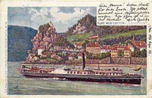 """Cartão-postal do Burg Werfenstein, local de encontro de ocultistas sectários que no início do século 20 promoviam visão de mundo """"ariana"""" (Foto: Cortesia Jörg Heiser)"""