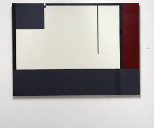 A tela Prumo de Antônio Manuel, estimada em R$ 9 mil, foi comprada por R$ 220 mil (Fotos: Divulgação)