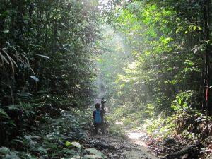 Grupo de estudos durante expedição pela Floresta Amazônica (Foto: Lucila Mantovani)