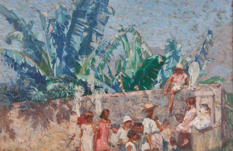 Garotos da Ladeira (c. 1928), obra de Eliseu Visconti pertencente à Coleção Hecilda e Sérgio Fadel (Foto: Sérgio Guerini/ Almeida & Dale)