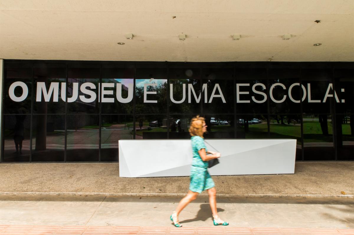 O Museu de Arte Moderna de São Paulo exibe versão da obra O Museu É uma Escola durante a exposição Educação como Matéria-prima, de fevereiro a junho de 2016 (Foto: Cortesia Alexander Gray Associates, NY)