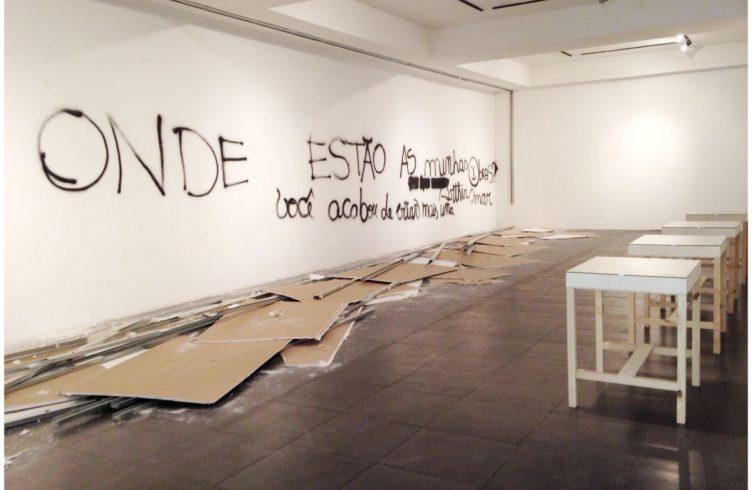 Happening Onde Estão Minhas Obras, do pernambucano Bruno Faria, no Mamam (Foto: Cortesia do artista)