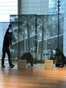 Montagem da instalação de Veronika Kellndorfer, em Oslo (Fotos: Cortesia da artista)