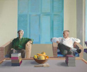 Christopher Isherwood e Don Bachardy (1968), de David Hockney (Foto: Divulgação)