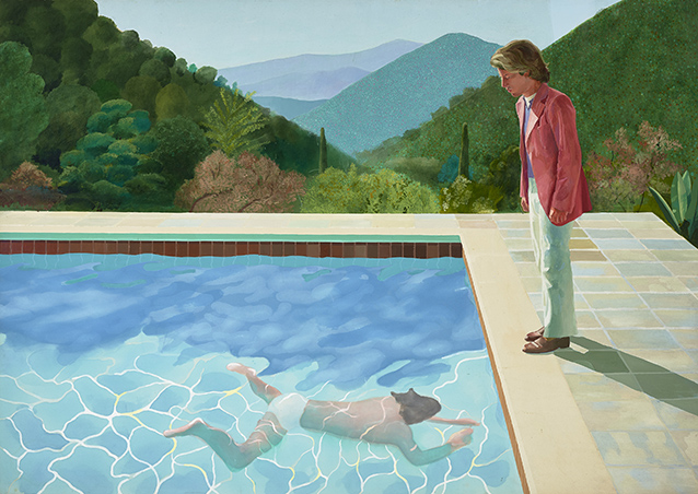 Portrait of an Artist (Pool with Two Figures) (1972), de David Hockney (Foto: Art Gallery of New South Wales/ Jenni Carter)