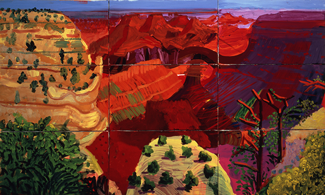 9 Canvas Study of the Grand Canyon (1998), de David Hockney (Foto: Richard Schmidt)