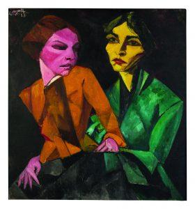 Duas Amigas, de Lasar Segall, em exposição na Casa França-Brasil