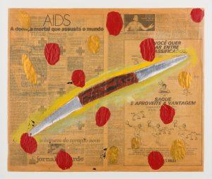 Trabalho de Leonilson, na exposição Metrópole: Experiência Paulistana (Foto: Isabella Matheus)