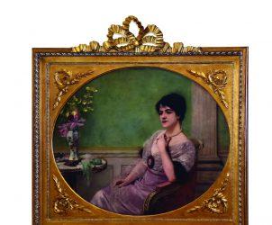 O Retrato de dona Olívia Guedes Penteado pelo pintor francês acadêmico Henri Gervex é o ponto de partida da exposição (Foto: Christina Rufatto)
