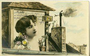 Cartão de 1900/1915, produzido pelo Estúdio Reutlinger, em Paris