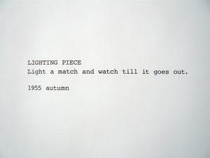 Lighting Piece (1955), de Yoko Ono (Foto: Reprodução)
