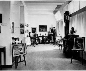 Ambiente da Galeria Domus, que surgiu em 1947 como a primeira dedicada à arte moderna na capital paulista (Foto: Cortesia Editora Via Impressa)