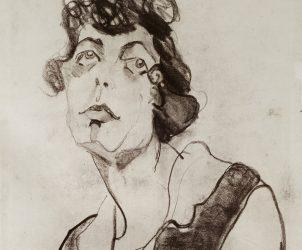 Retrato de Mulher (estudo para A Boba, 1915-16) (Foto: Leonardo Crescenti, Coleção Museu de Arte Brasileira, MAB-FAAP)