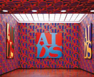 Instalação com pinturas AIDS (1998), de General Idea (Fotos: Divulgação)