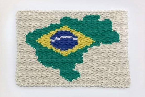 Bandeira Nacional, de Jaime Lauriano, artista selecionado na quarta edição do Prêmio Foco Bradesco ArtRio (Foto: Reprodução)